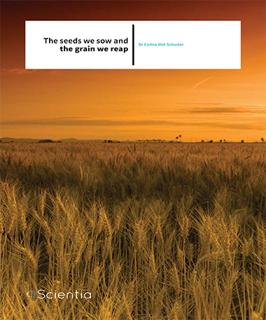 Dr Corina Vlot-Schuster – The Seeds We Sow And The Grain We Reap