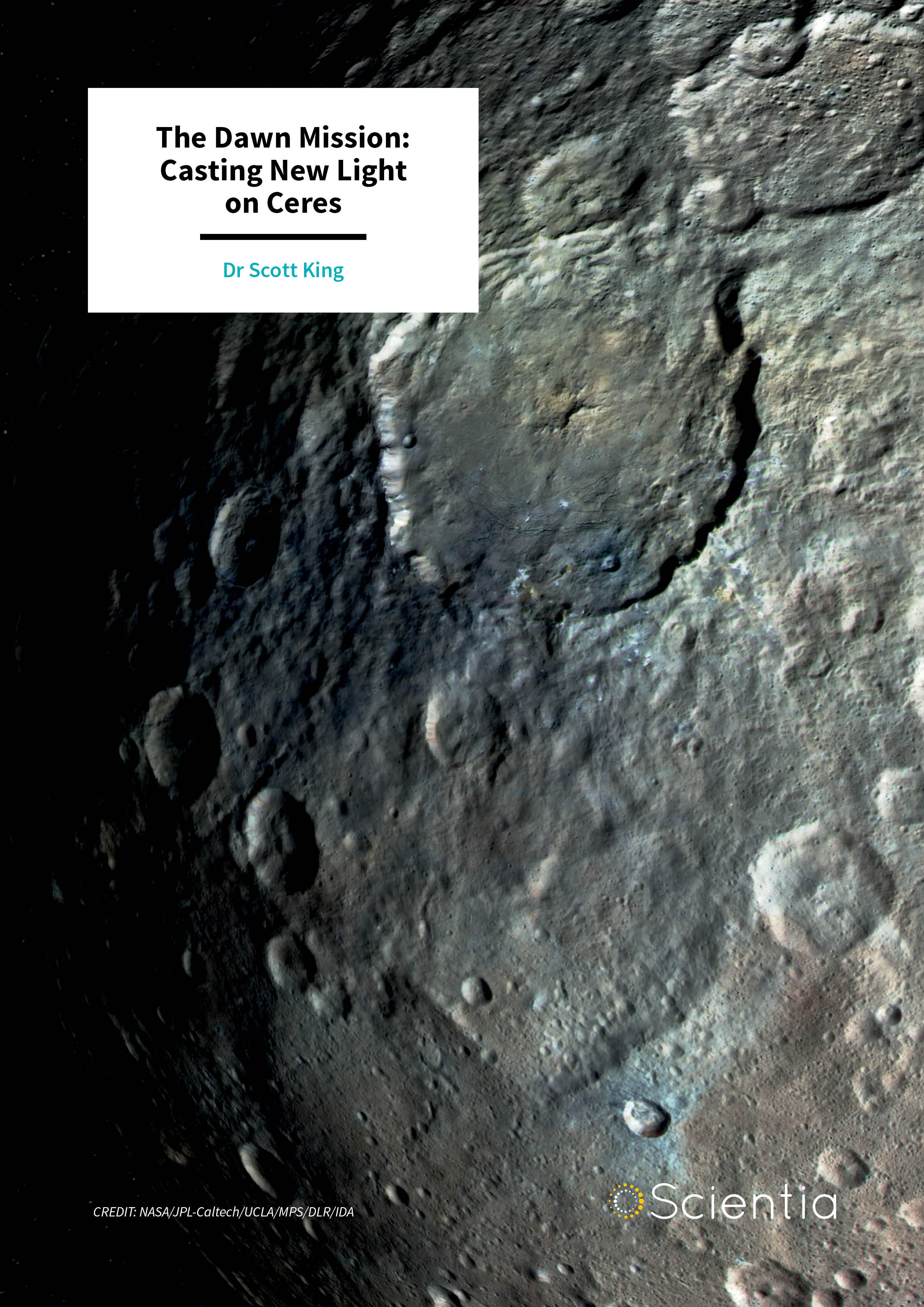 Dr Scott King – The Dawn Mission: Casting New Light on Ceres